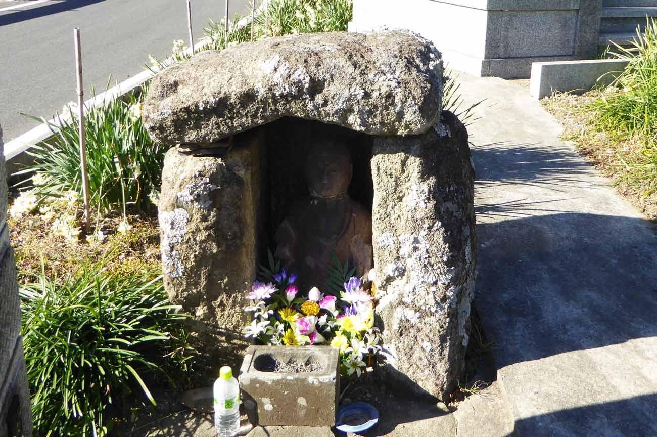 萬福寺石祠の石像の画像