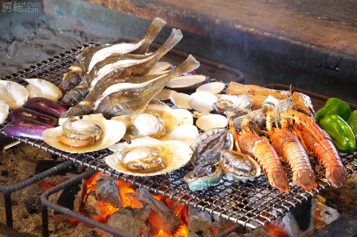 萬壽山の海鮮炭火焼き
