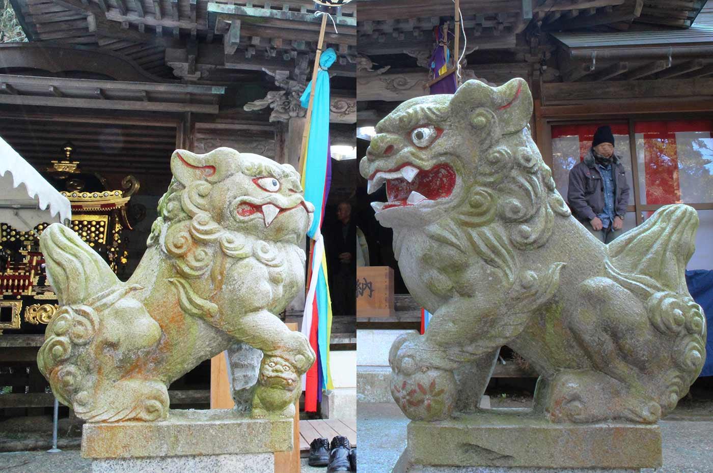 金気神社の狛犬