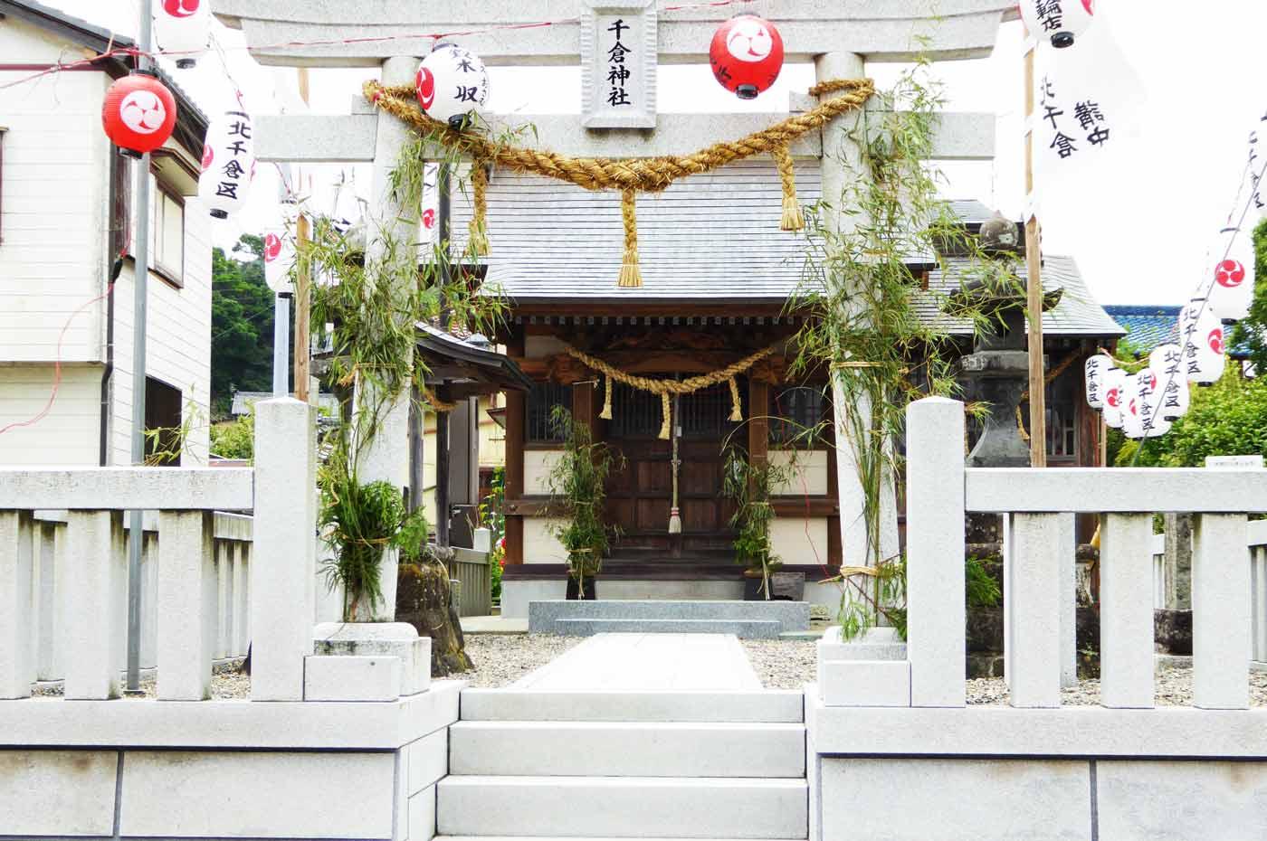 千倉神社の拝殿