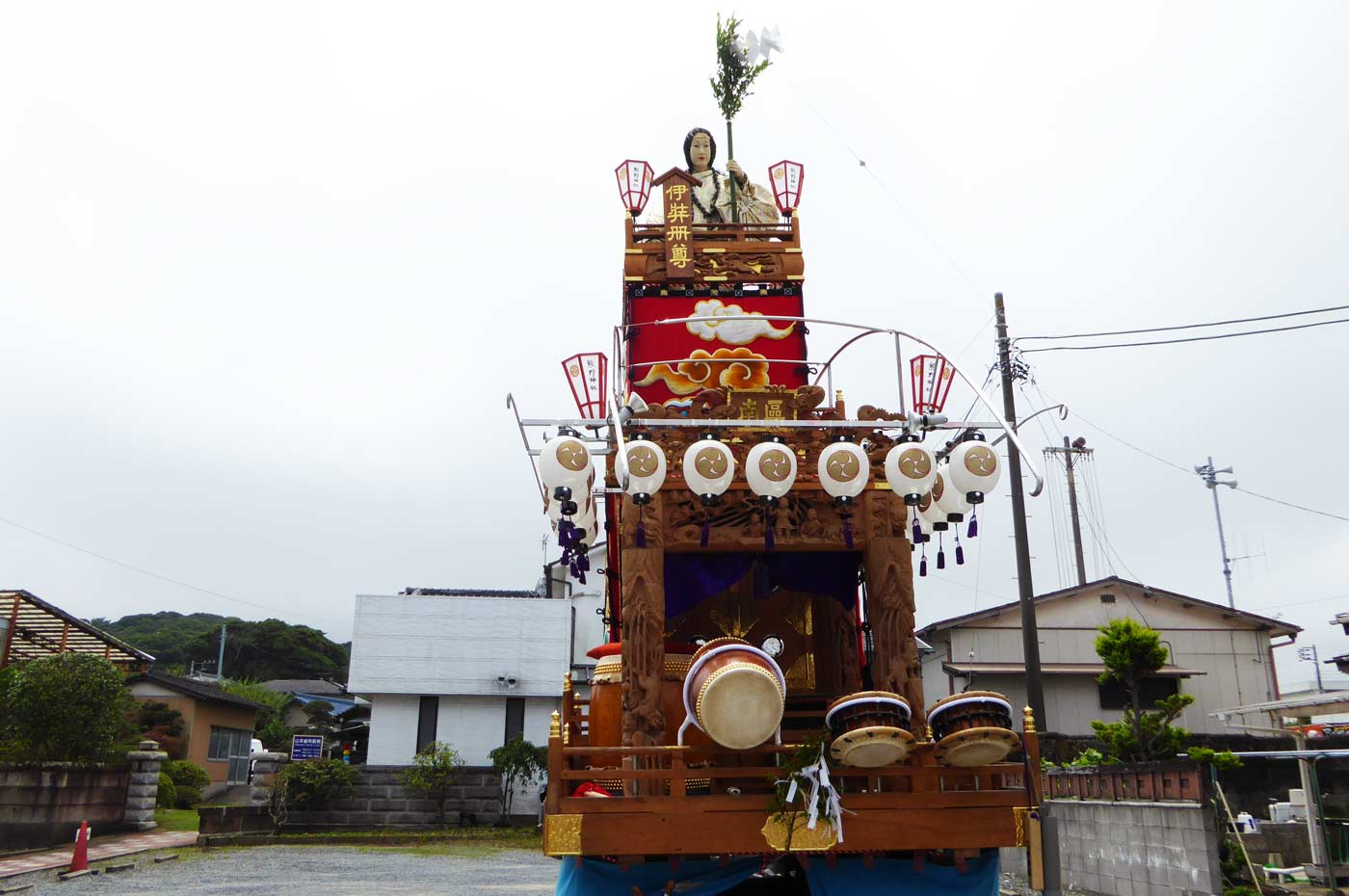 南千倉の山車の写真