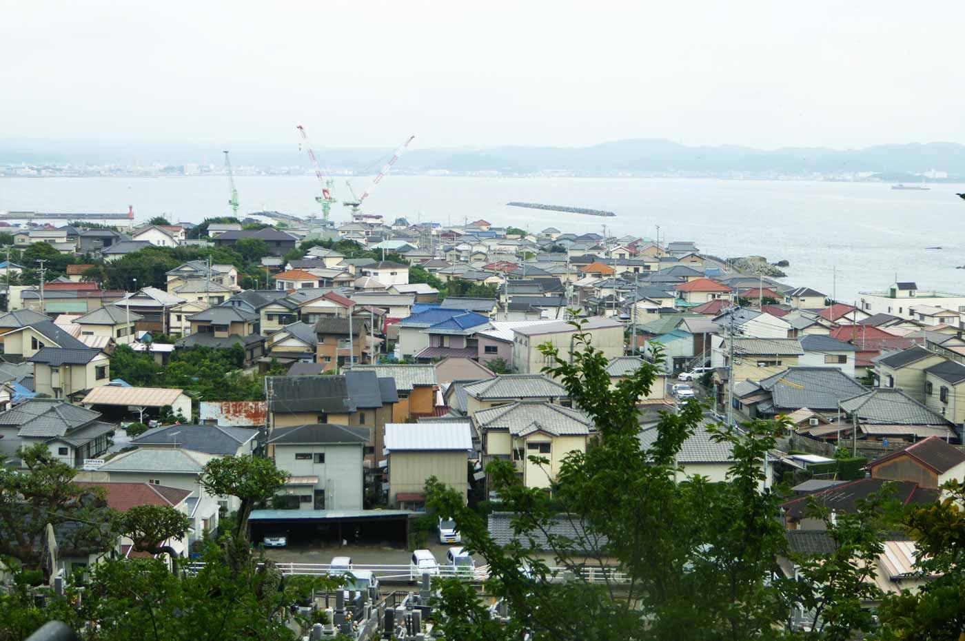 大福寺観音堂から見た館山湾(鏡ヶ浦)の画像