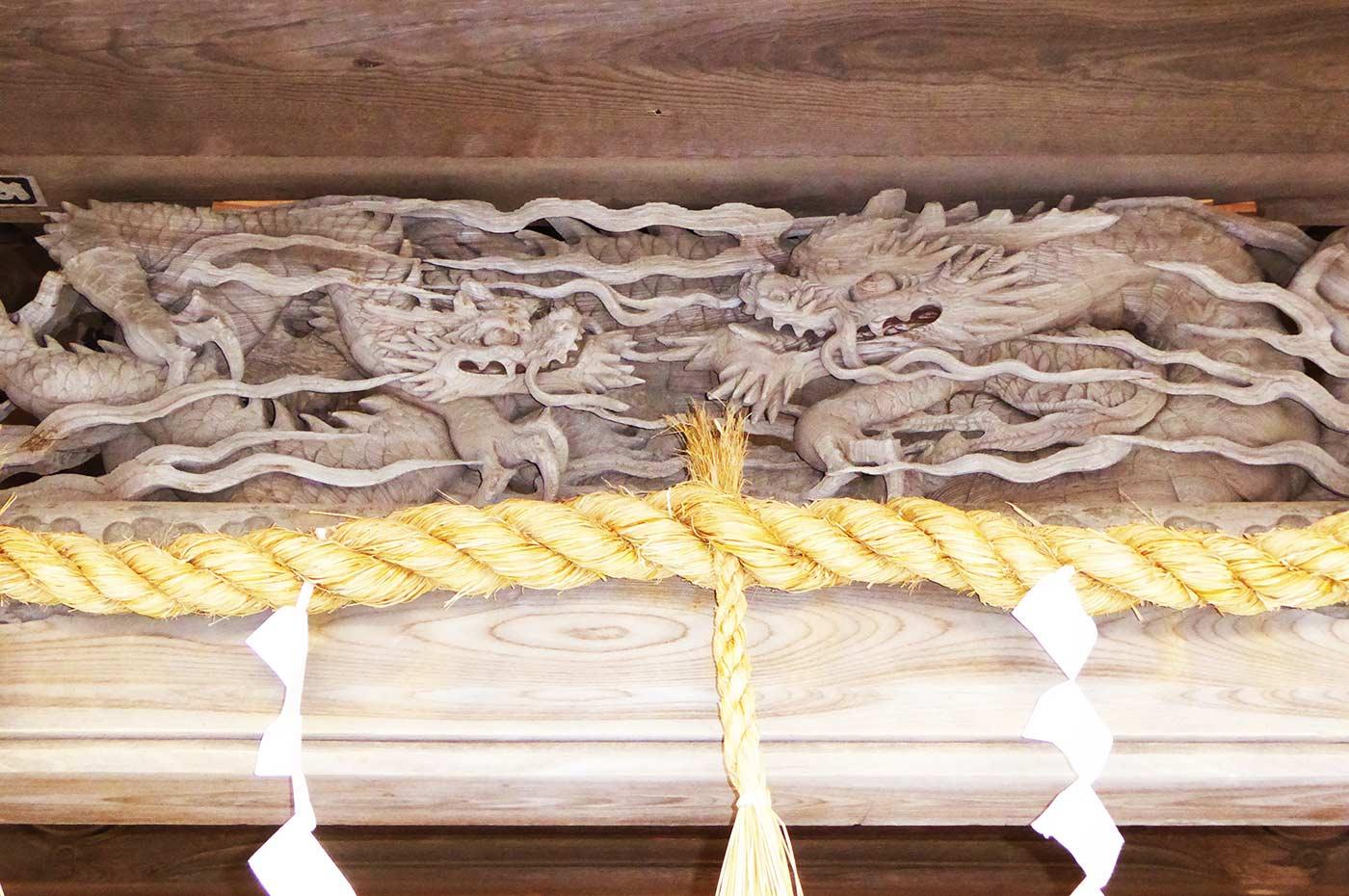 熊野神社 龍の彫刻