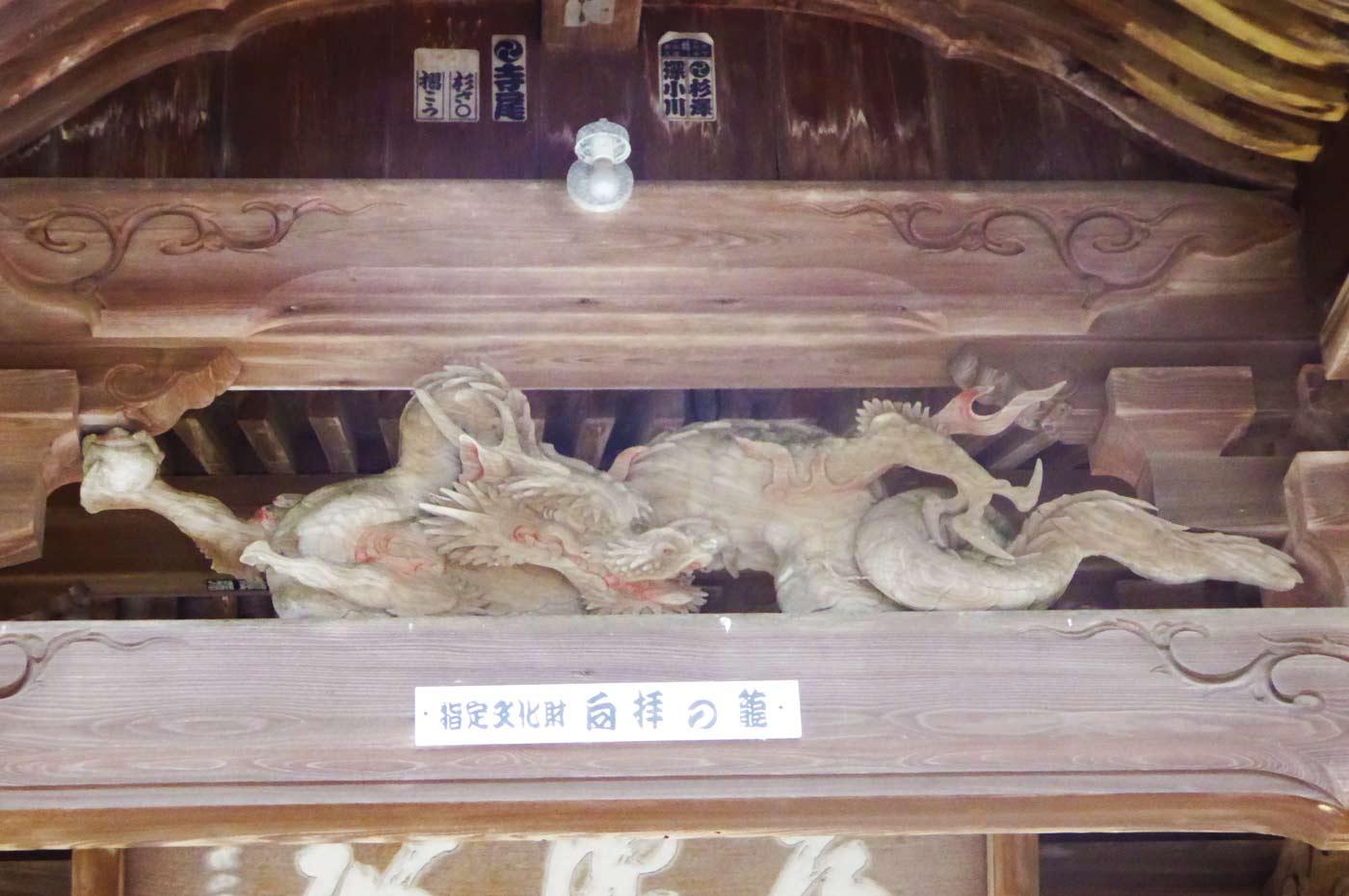 金乗院 初代武志伊八郎信由の竜の彫刻