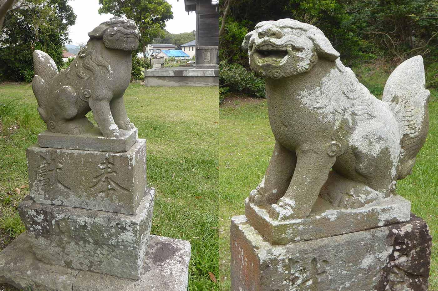 瀧淵神社の狛犬