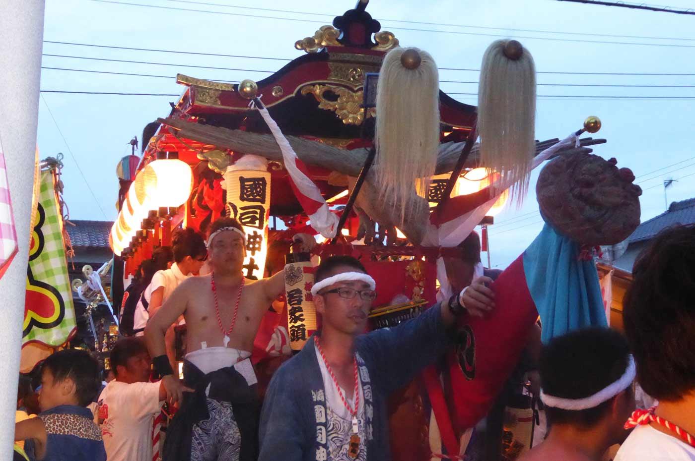 館山の祭り 国司神社の御舟