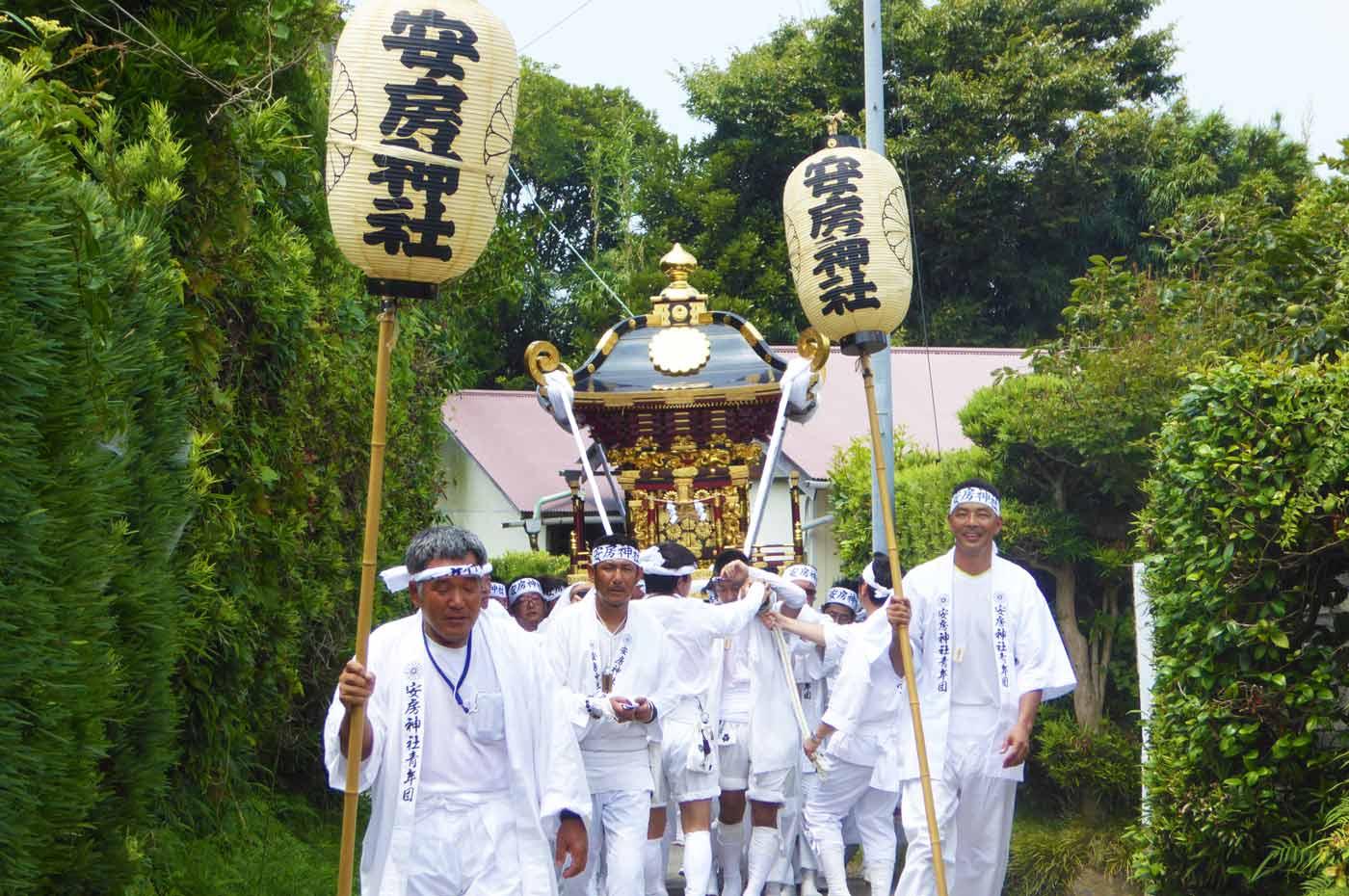 安房神社の祭礼