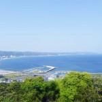 魚見塚展望台からの眺望