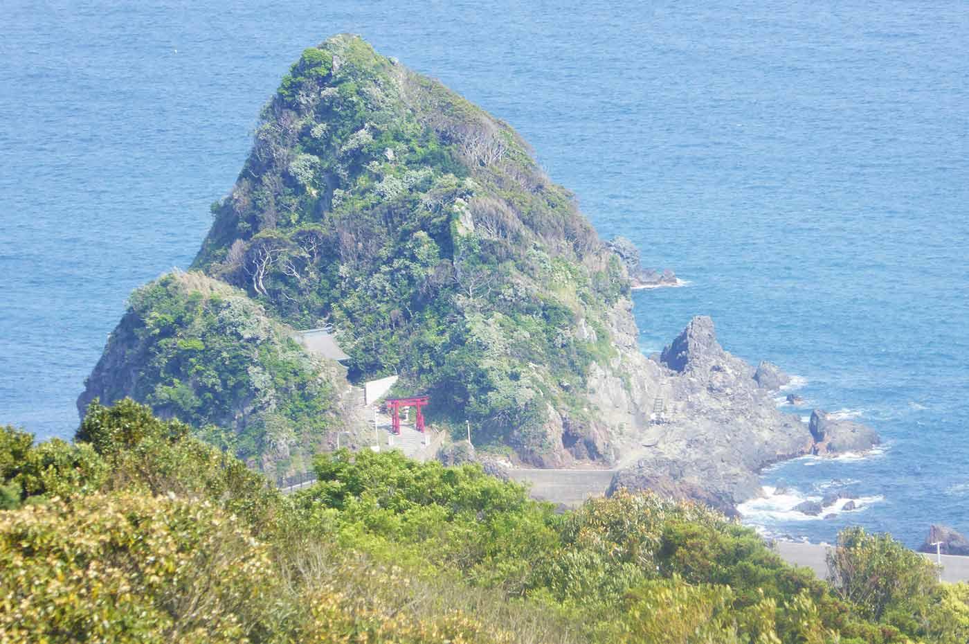 魚見塚展望台から厳島神社