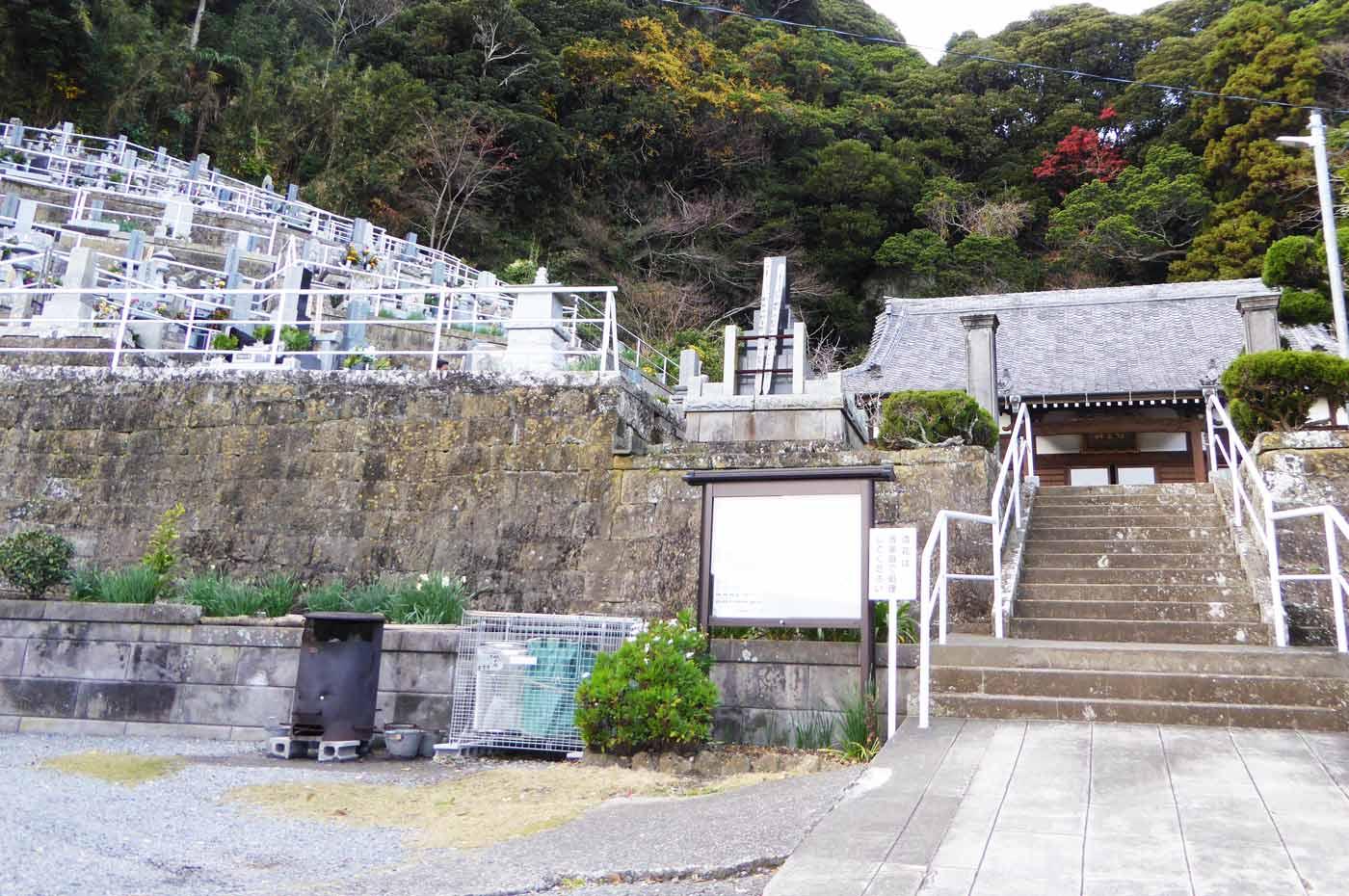海雲寺の裏山