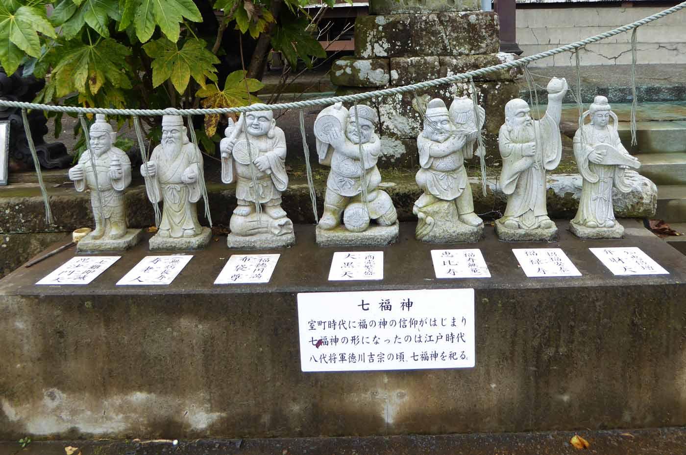 拝殿殿左手前の七福神