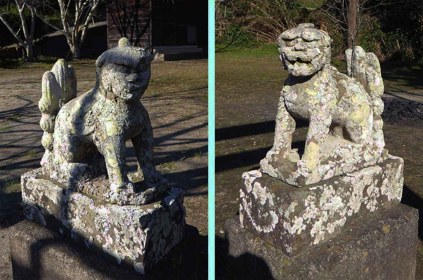 青根原神社の狛犬の画像