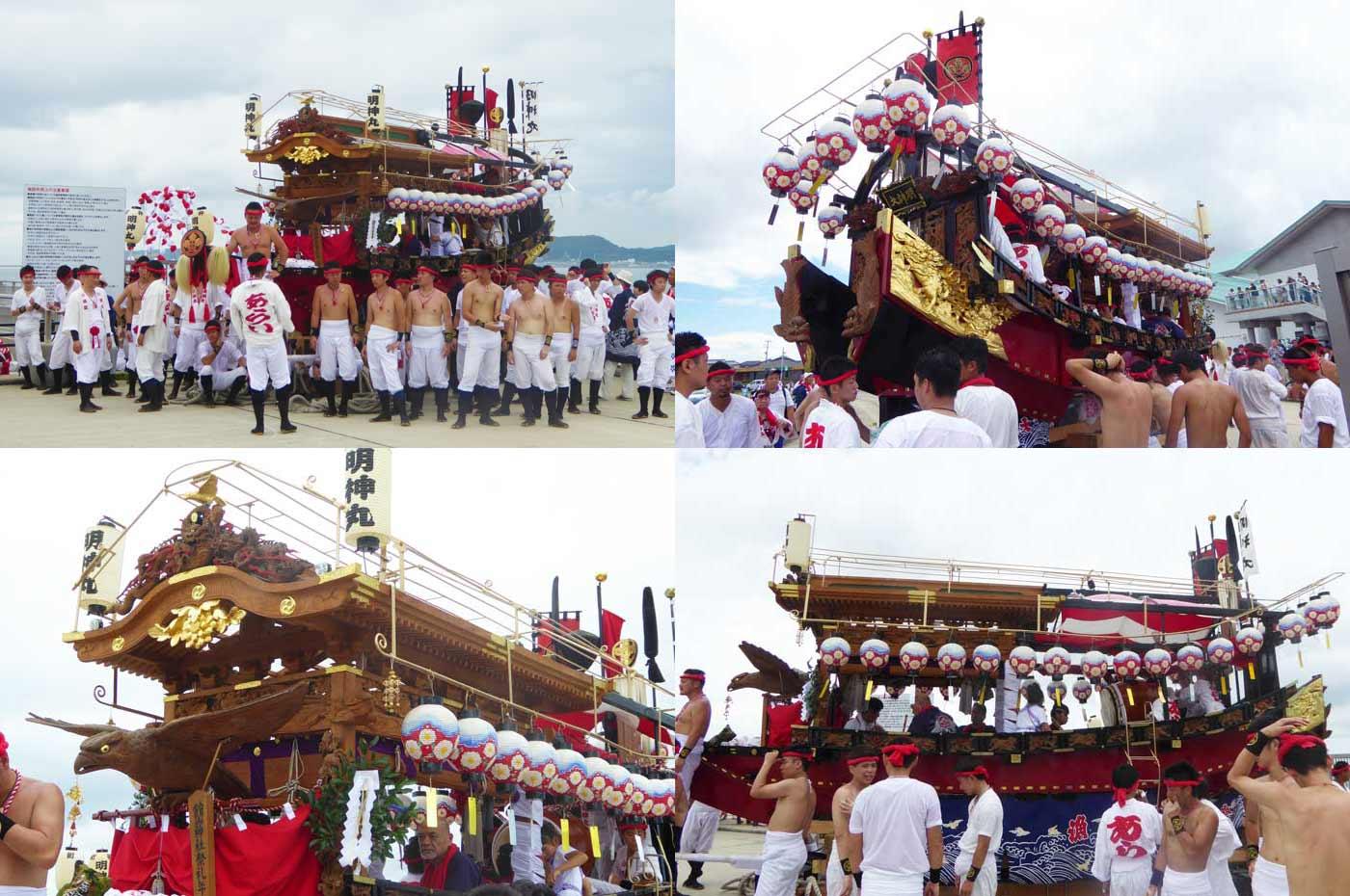 館山の祭り 新井地区の御舟