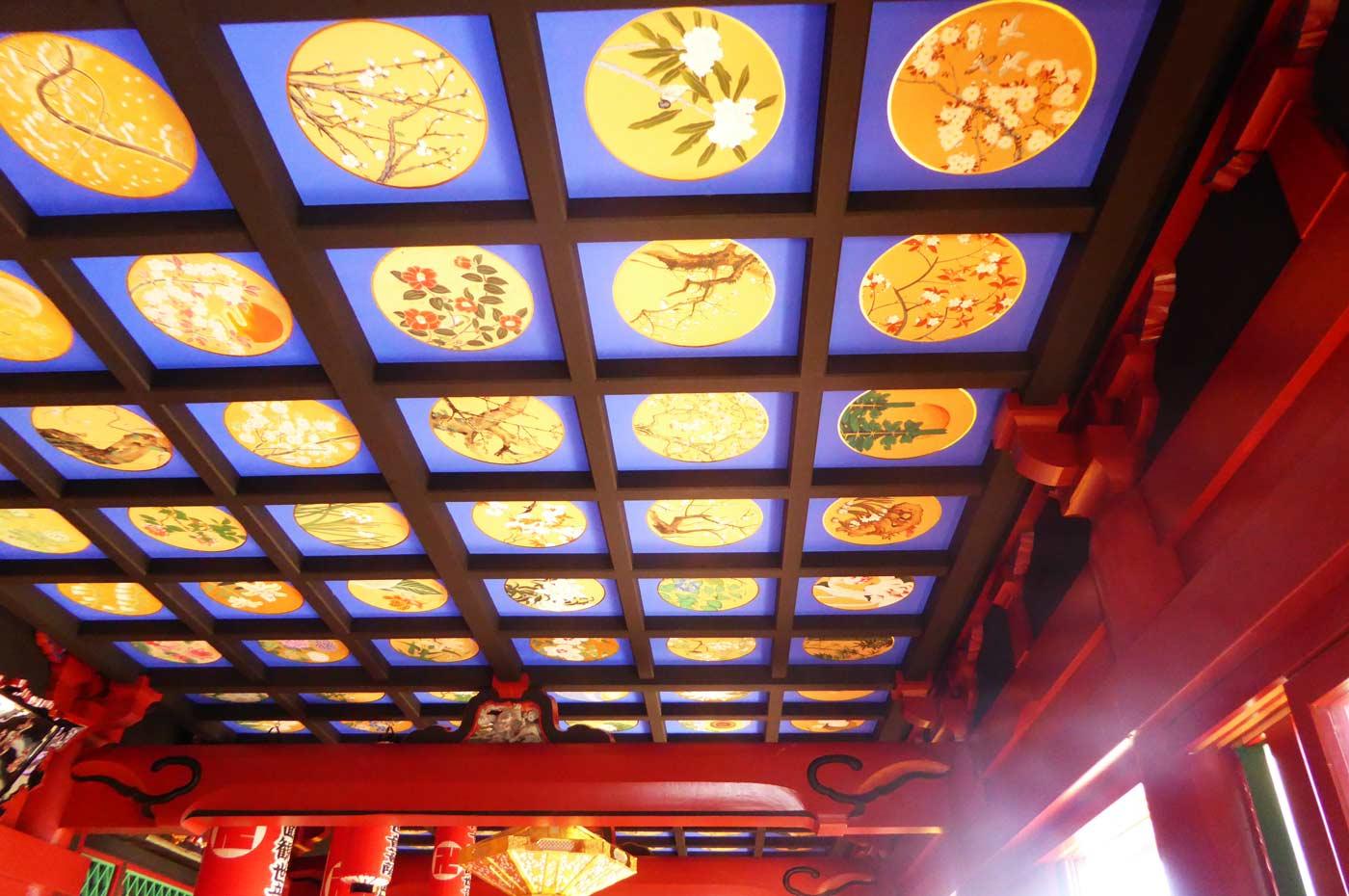 観音堂の天井画1の画像