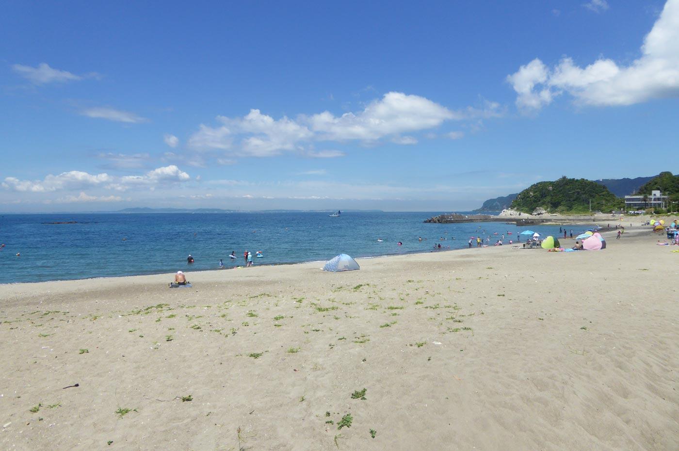 大六海水浴場の砂浜の画像