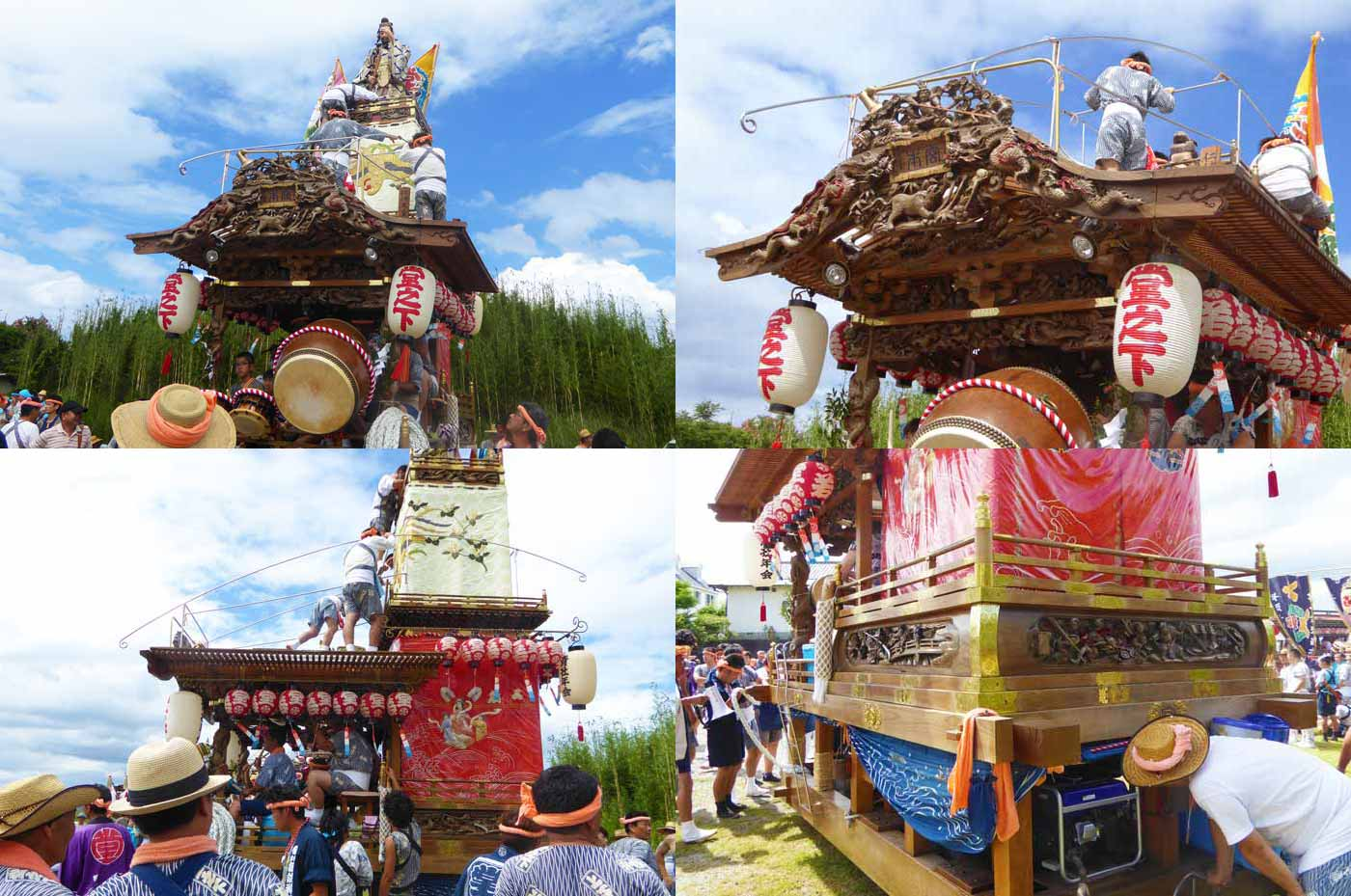 船形諏訪神社例祭 堂の下区の人形屋台