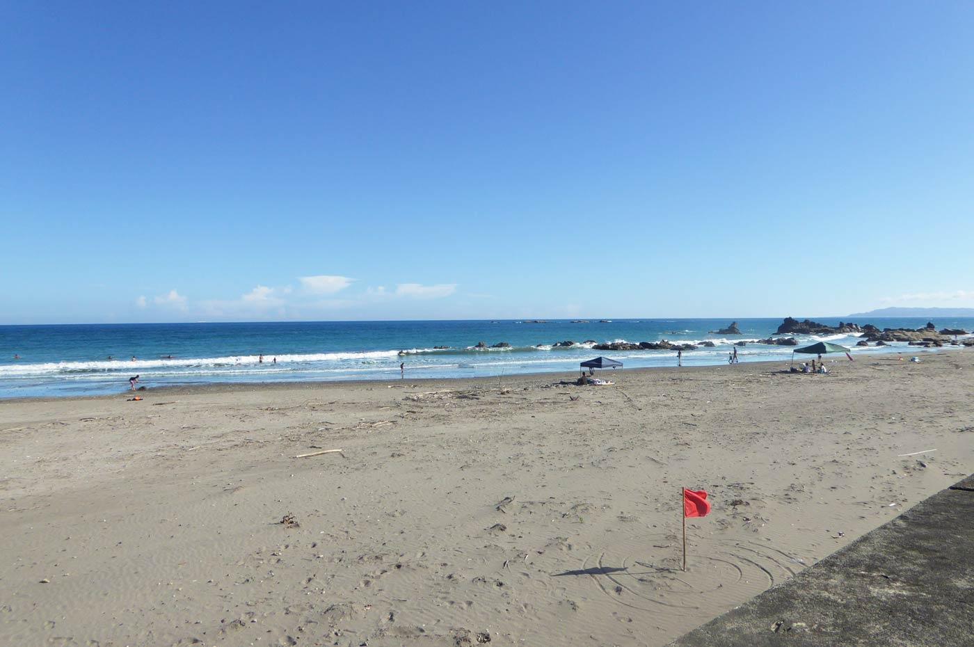 江見海水浴場の砂浜