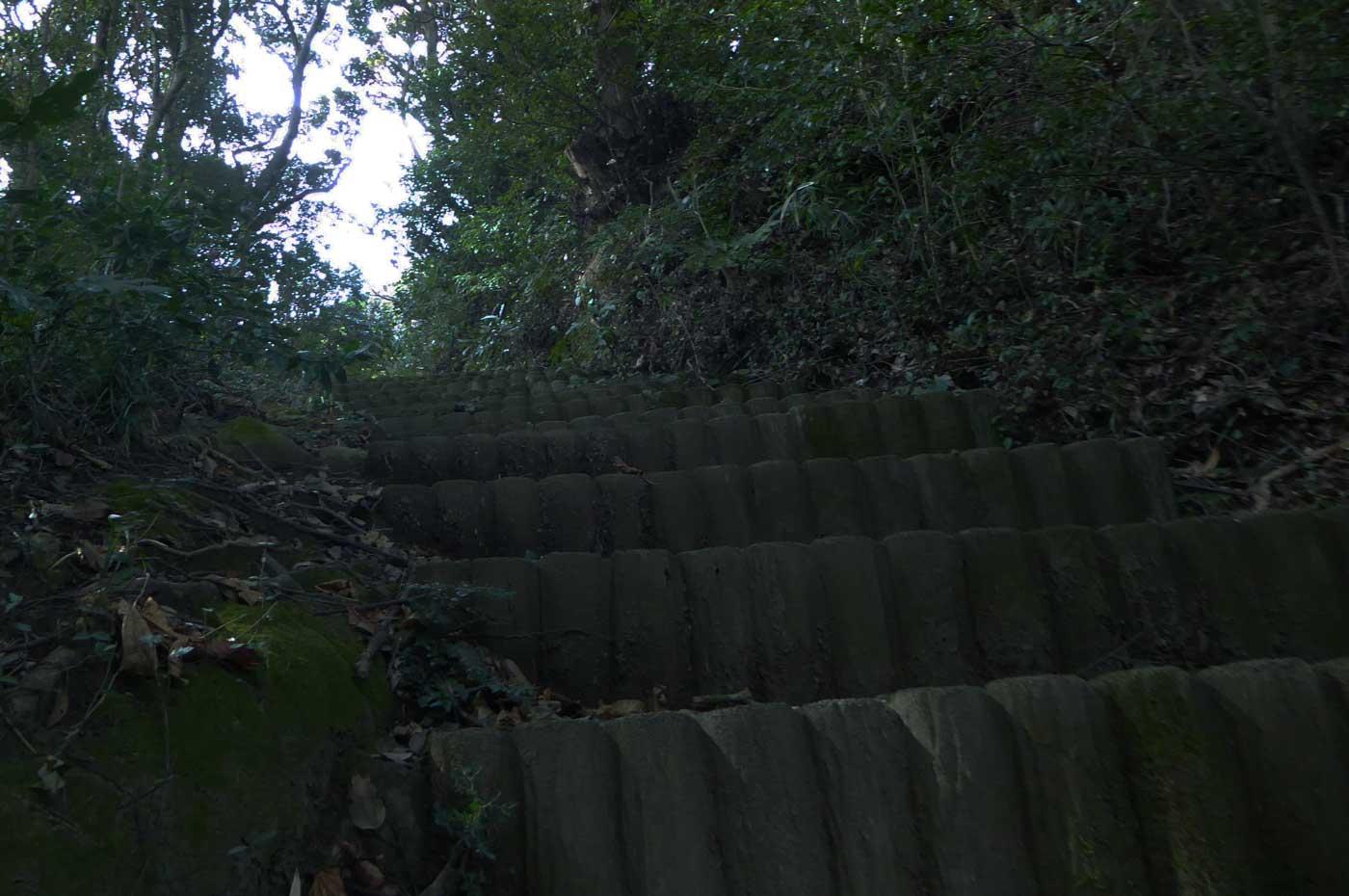 里見氏墓城への急坂の画像