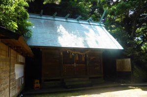 船越鉈切神社の拝殿
