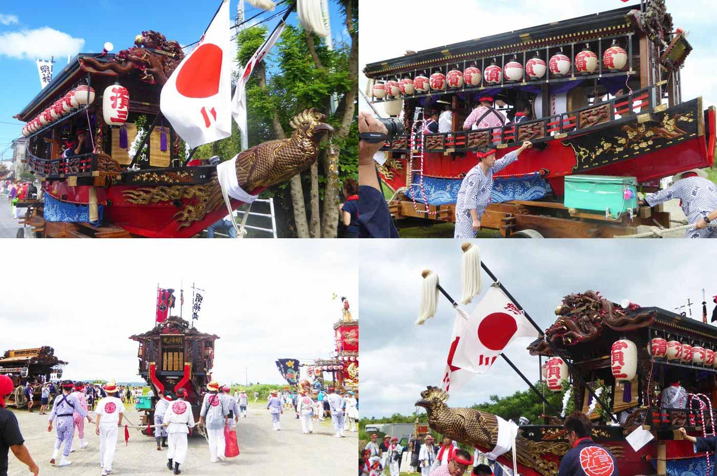 船形諏訪神社例祭 浜三区の御舟