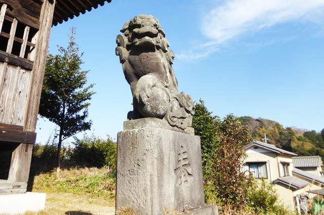 日枝神社の狛犬(右)の画像