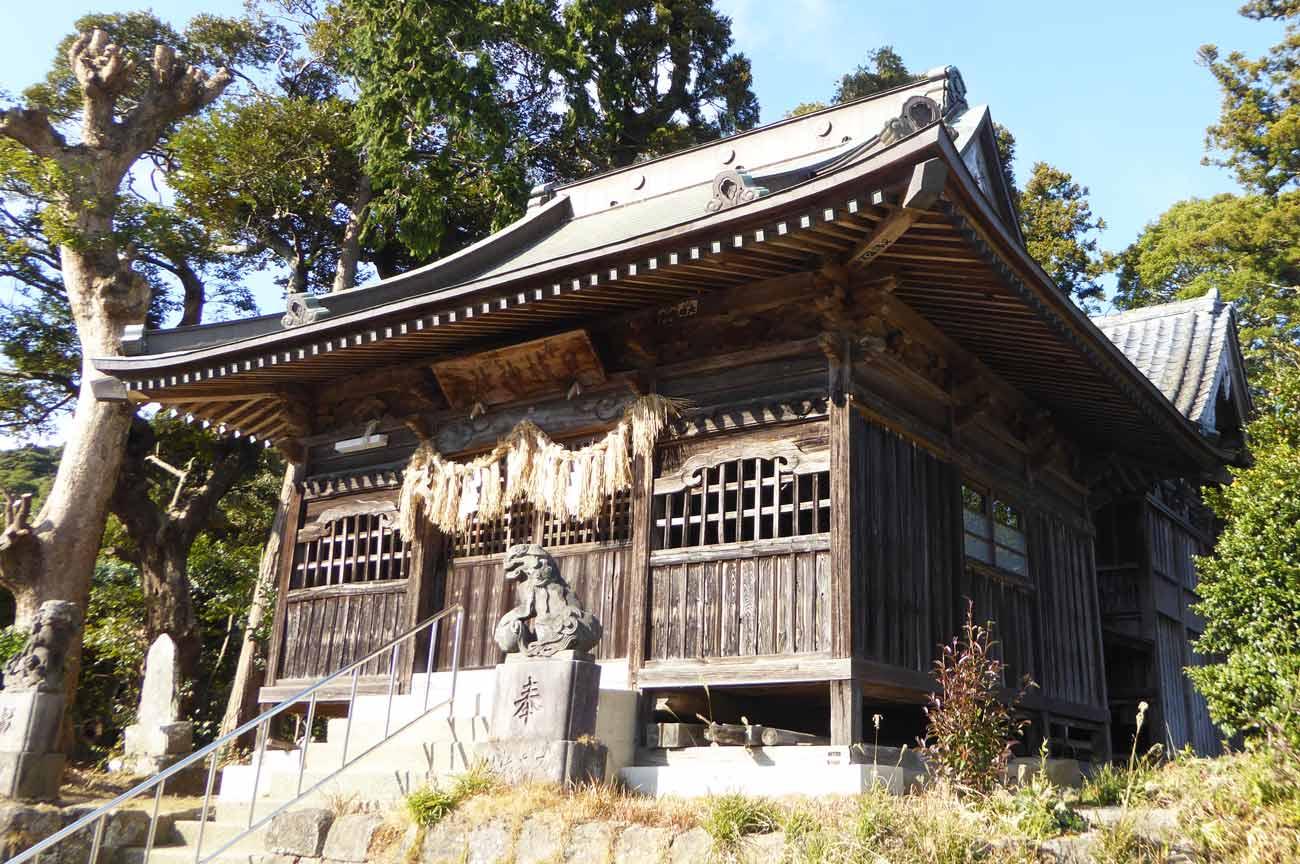日枝神社拝殿と本殿の画像