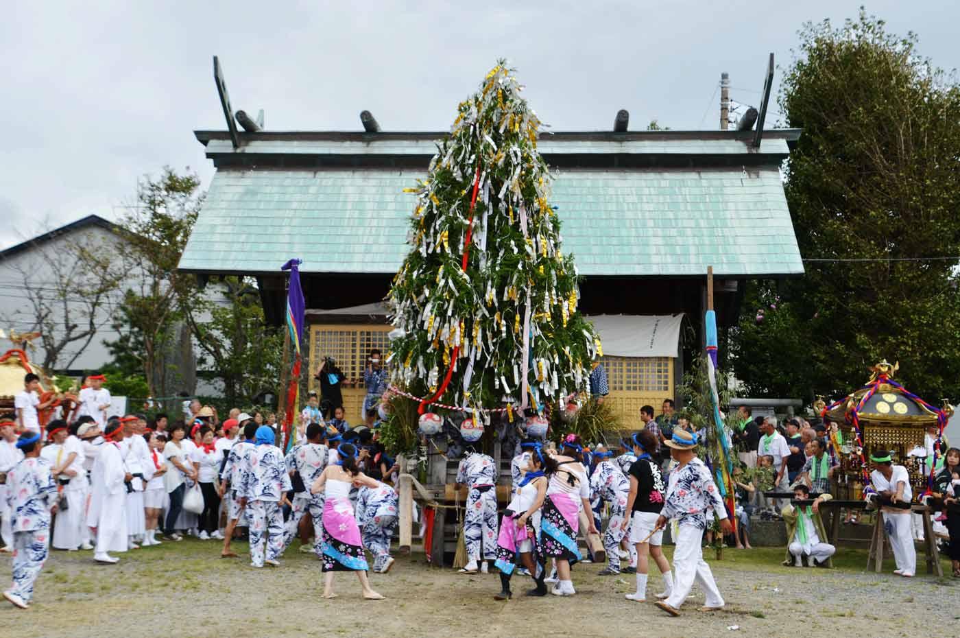 本郷浜の大杉様が保田神社へ突入