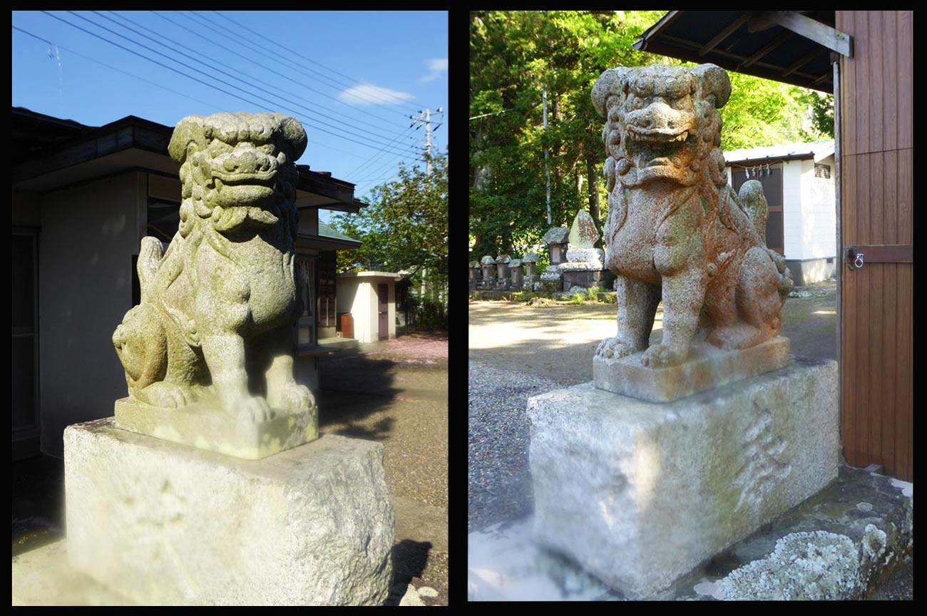 岩井神社狛犬の画像
