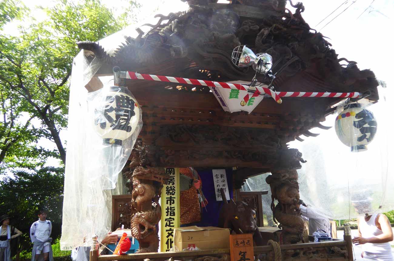 南房総市文化財の屋台の画像