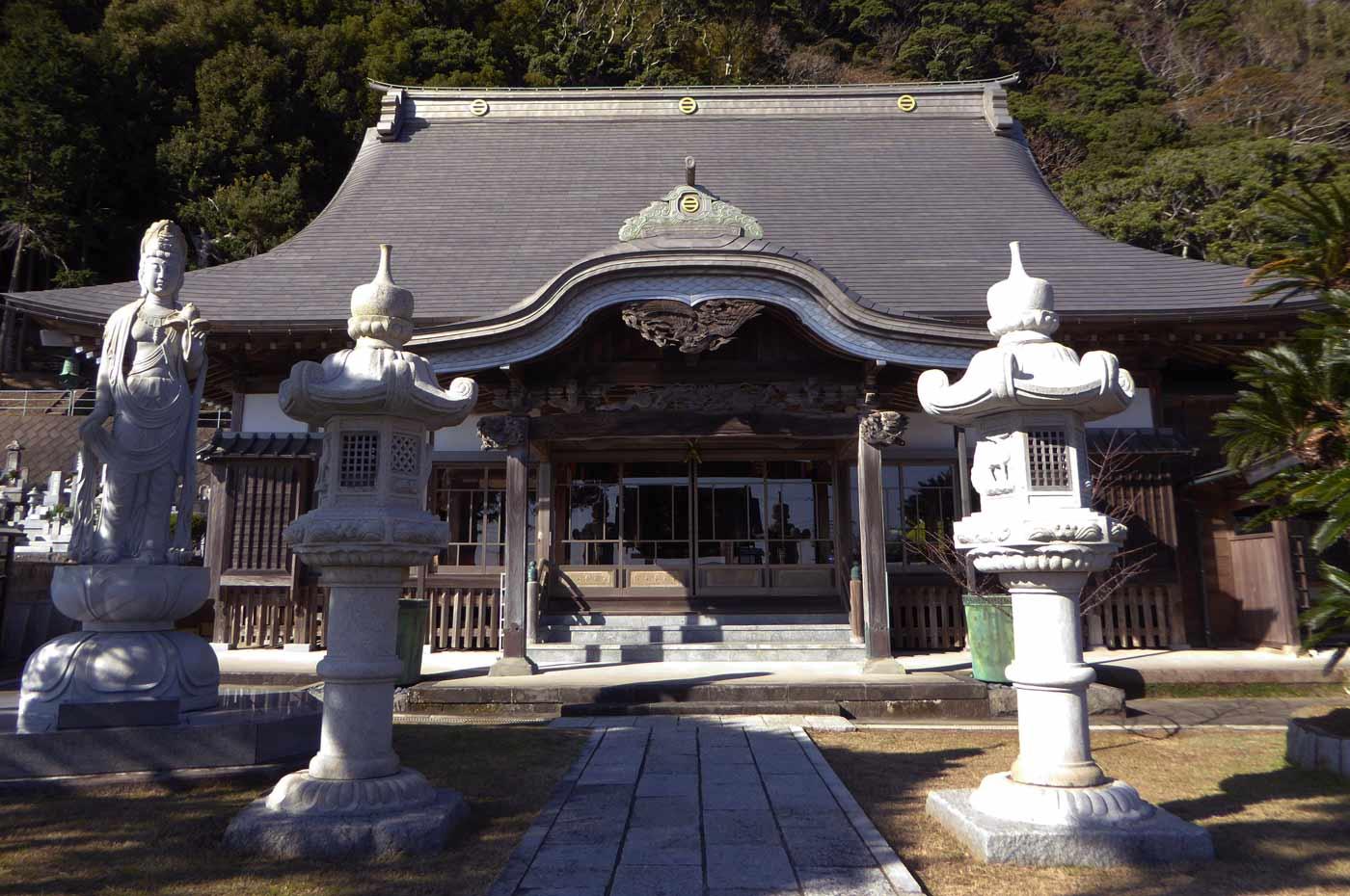 杖珠院本堂のアップ画像