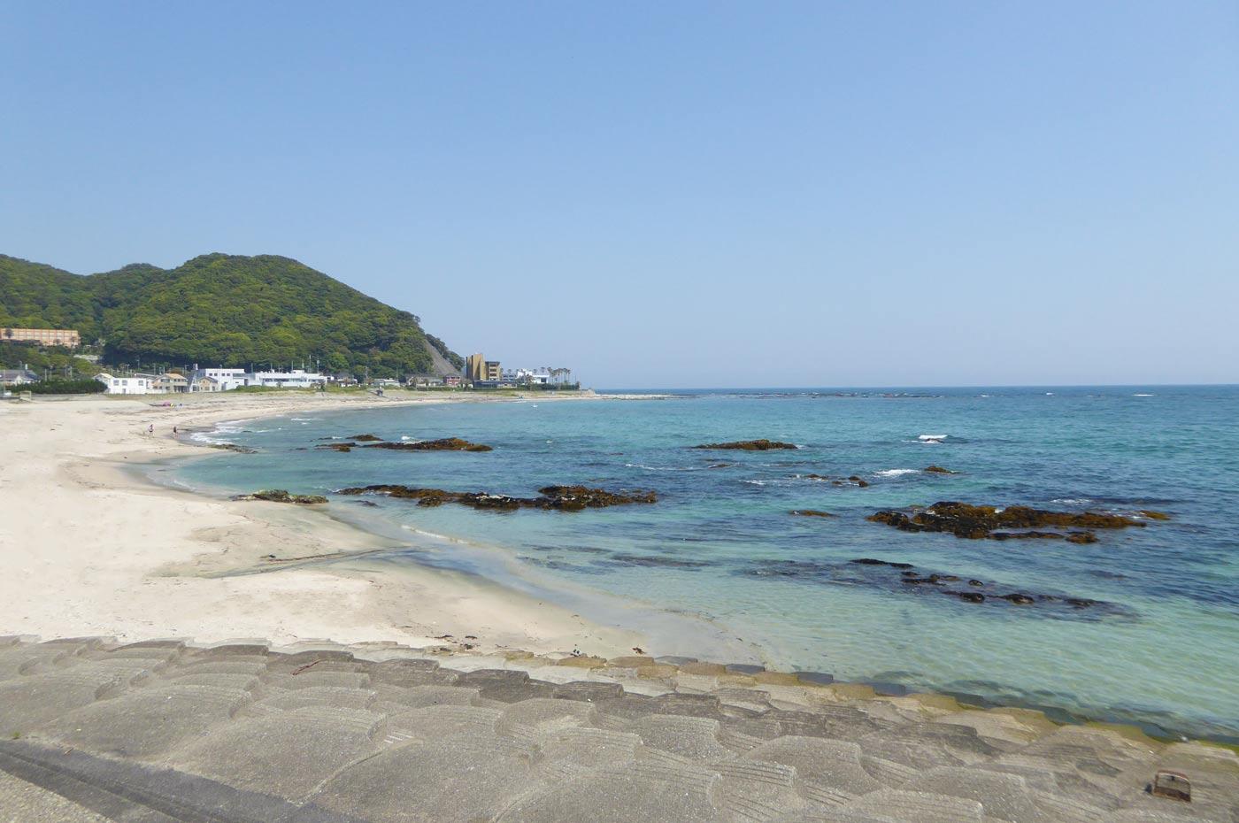 城崎海水浴場の全景