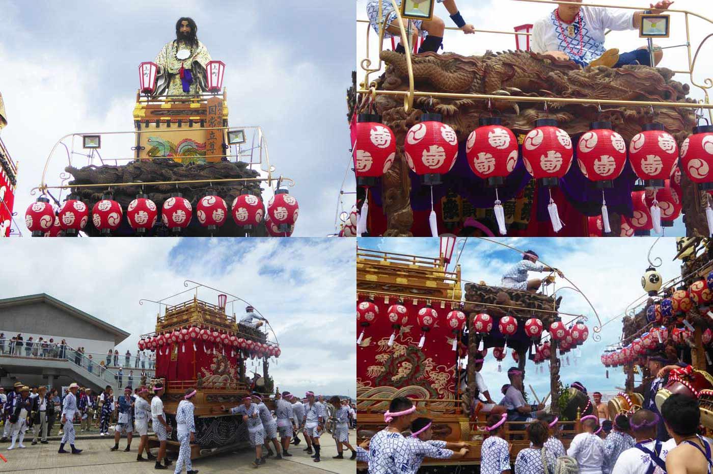 館山の祭り 上町の山車