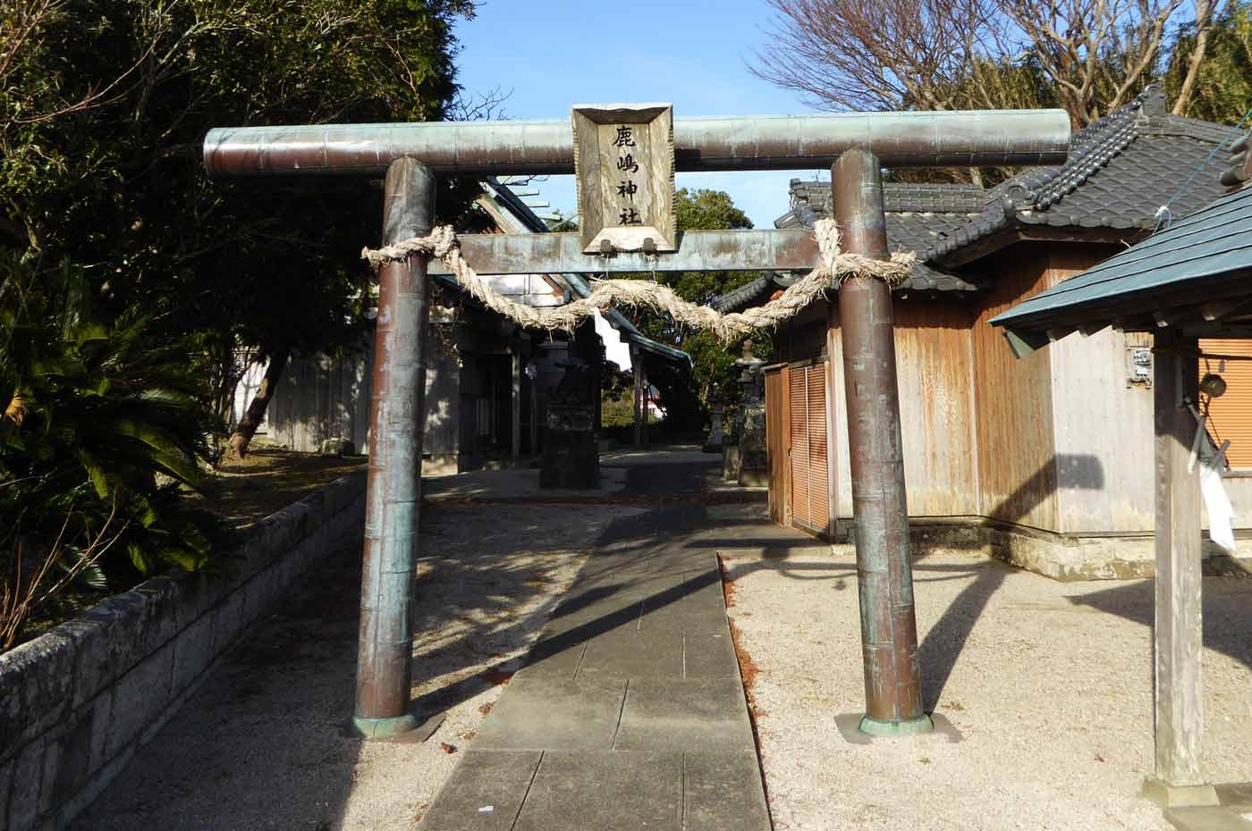 鹿嶋神社の鳥居の写真2