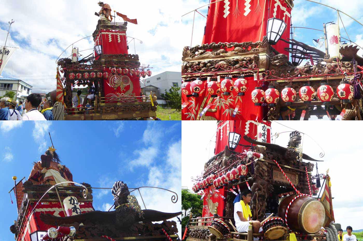 船形諏訪神社例祭 川浜区の山車