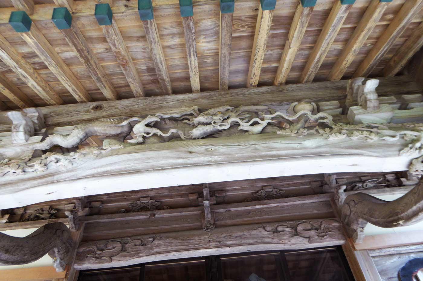 後藤利兵衛橘義光の龍の彫刻