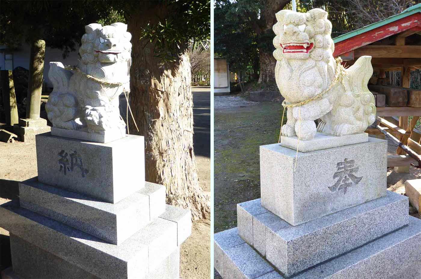 御嶽神社の狛犬の画像