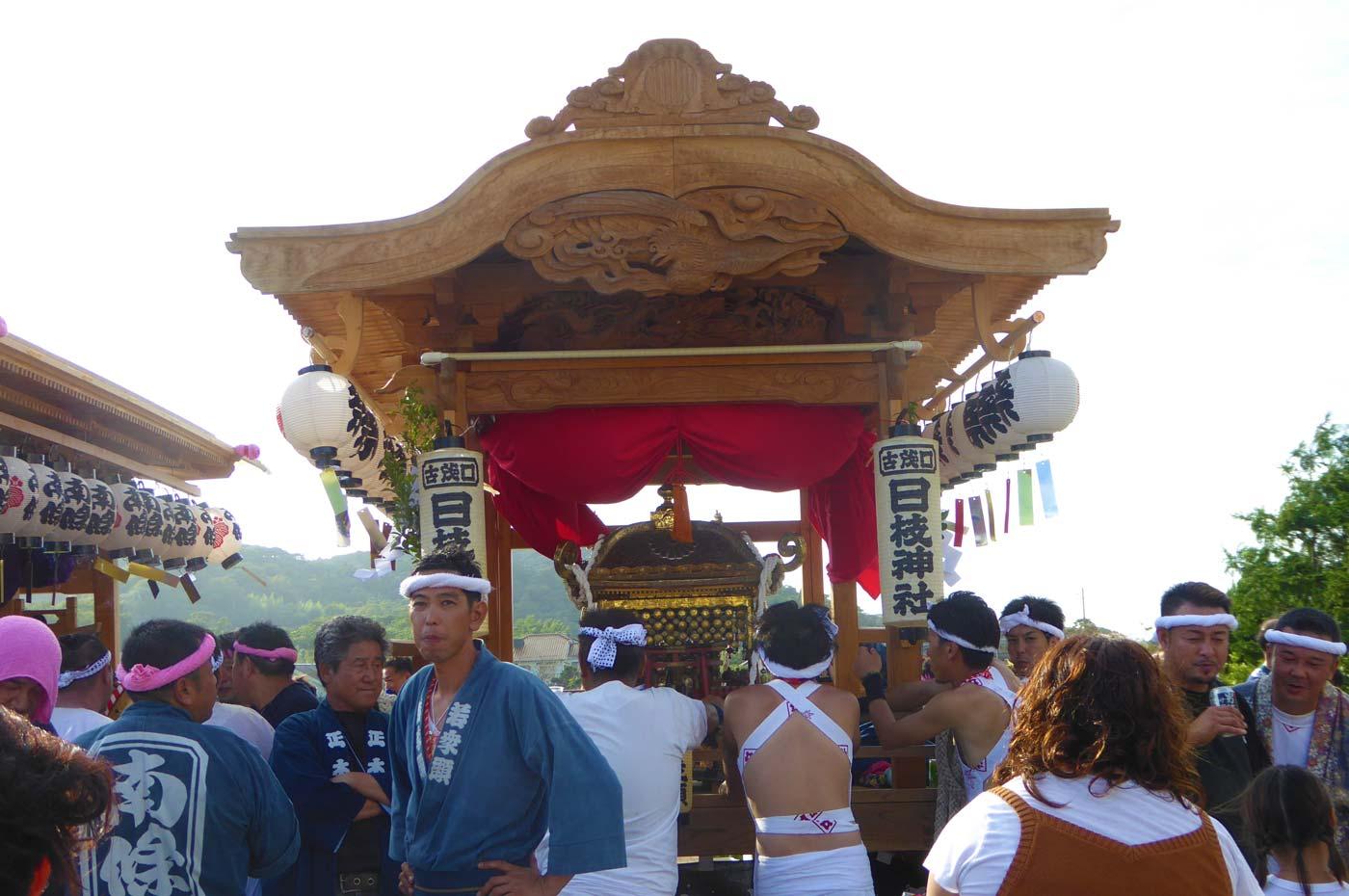 古茂口日枝神社の屋台