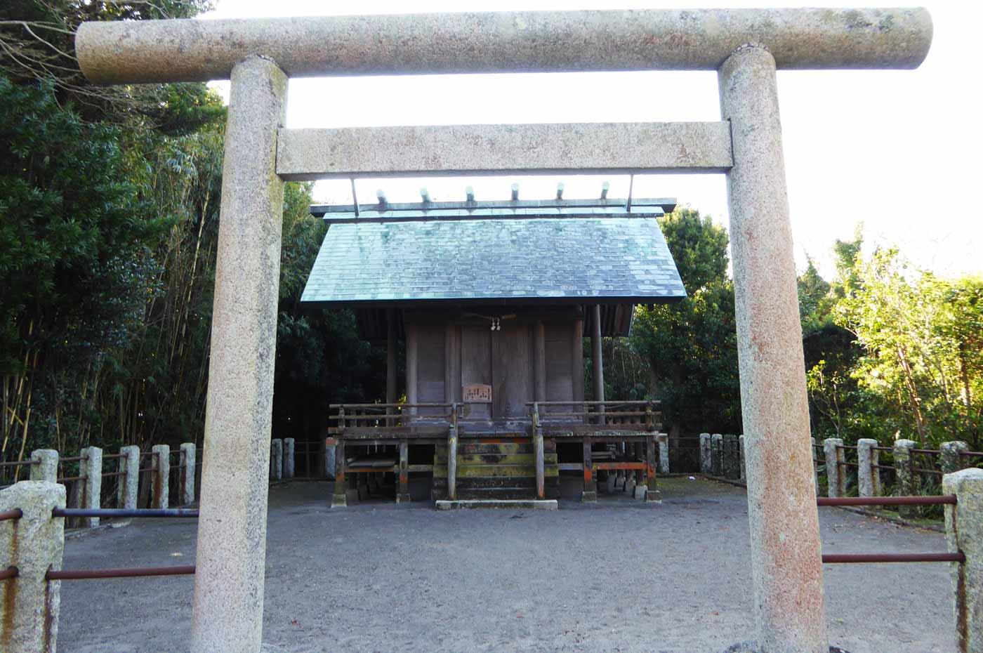 琴平神社の鳥居と境内
