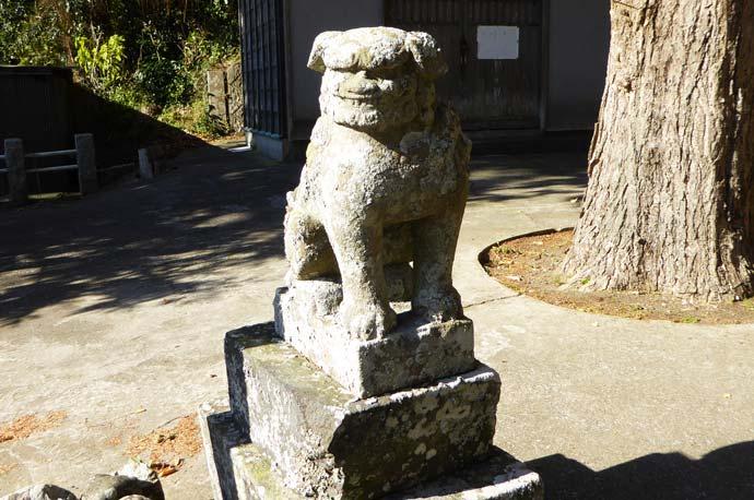 熊野神社の狛犬(左)