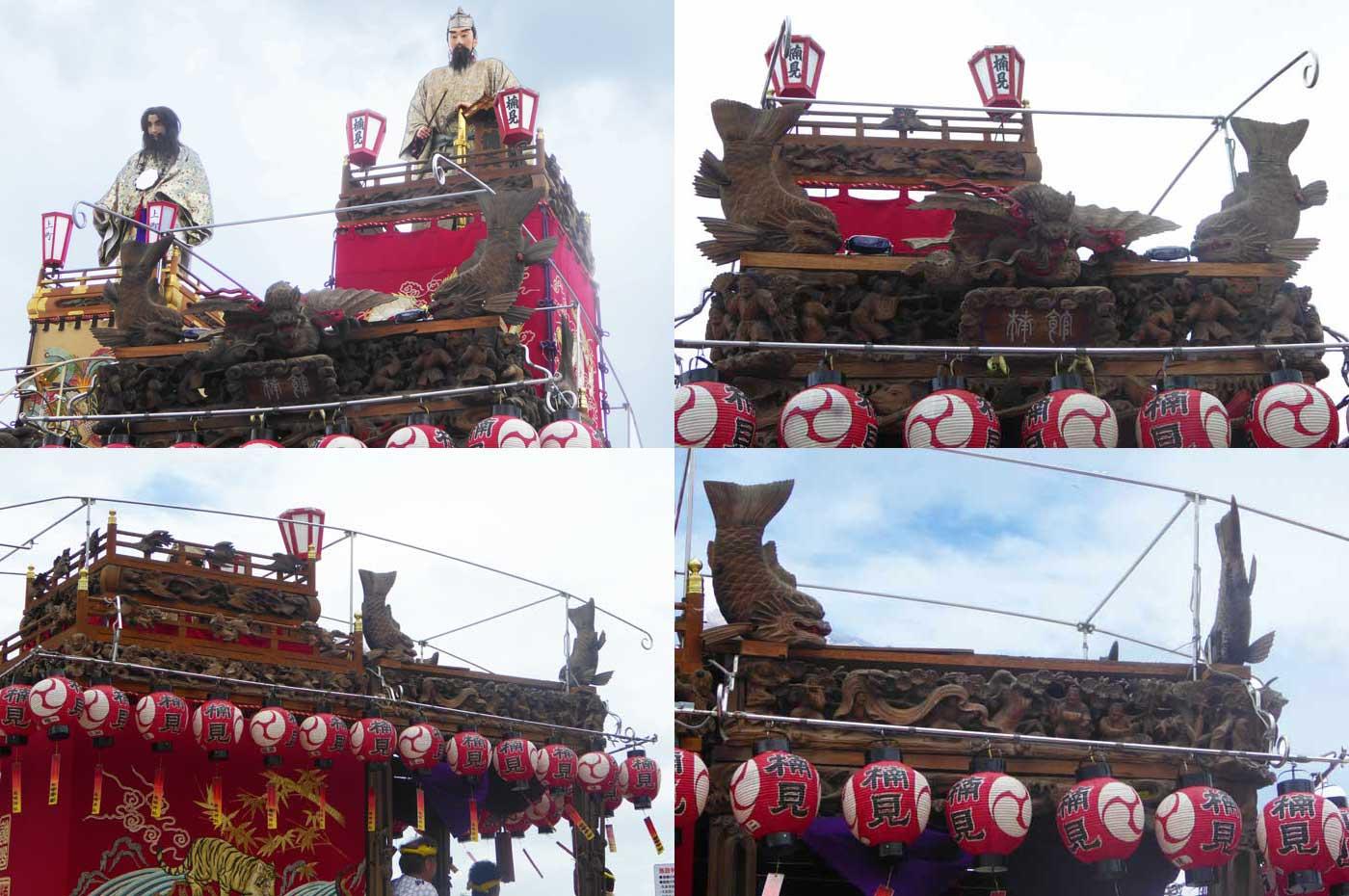 館山の祭り 楠見の山車