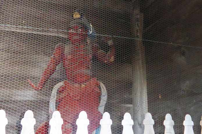 鏡忍寺の仁王像(右)の写真
