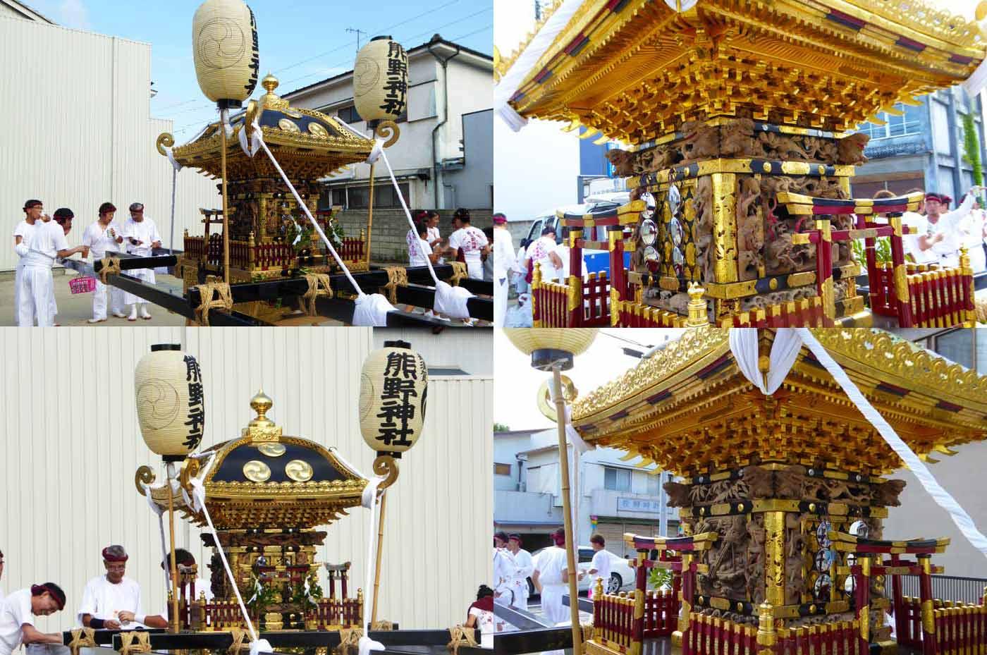 熊野神社の神輿 2016年7月