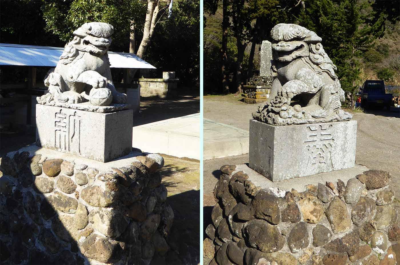 三嶋神社の狛犬の画像