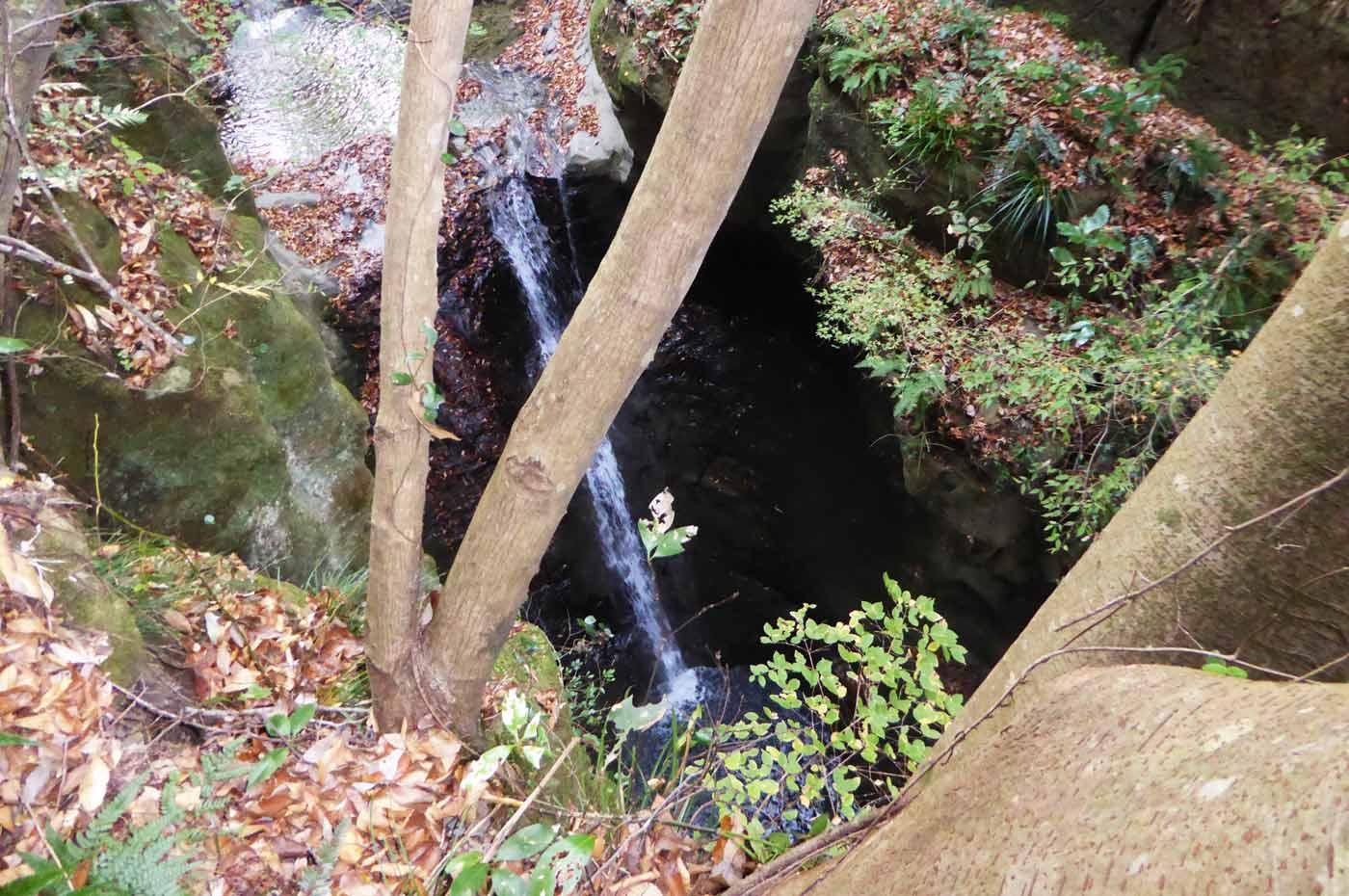 地蔵堂の滝の滝壺の画像