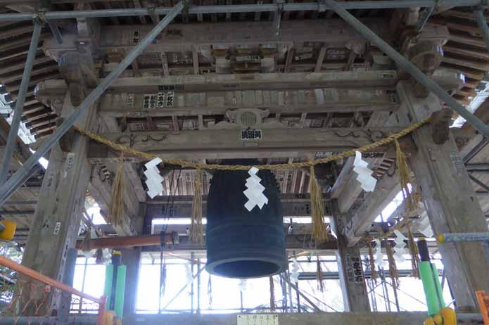 那古寺の梵鐘
