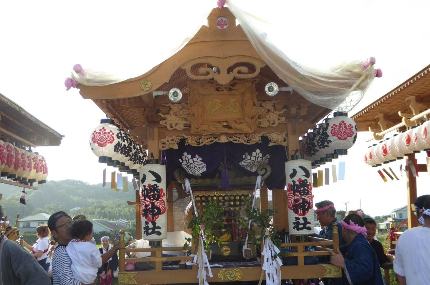 南条地区八幡神社の屋台