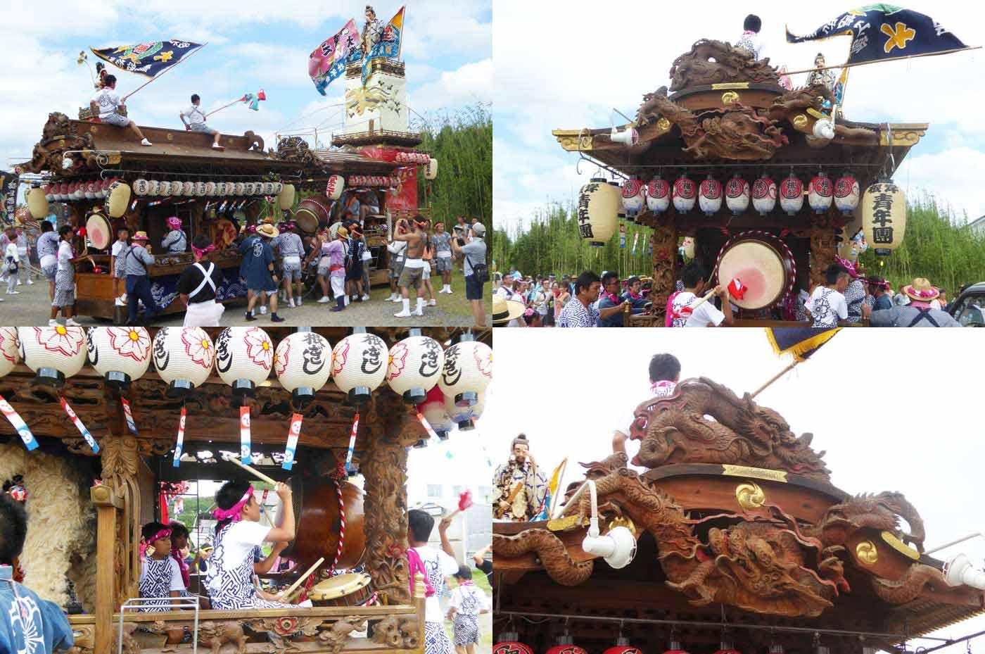 船形諏訪神社例祭 根岸区の屋台