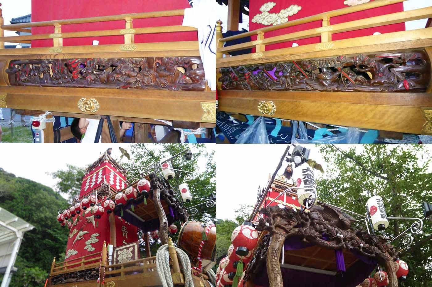 那古の祭礼 大芝の山車