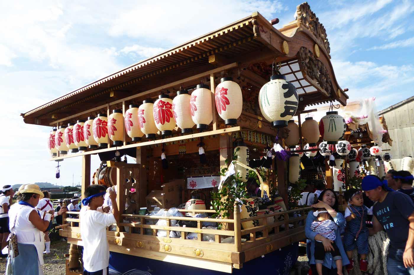 大戸地区白幡神社の屋台
