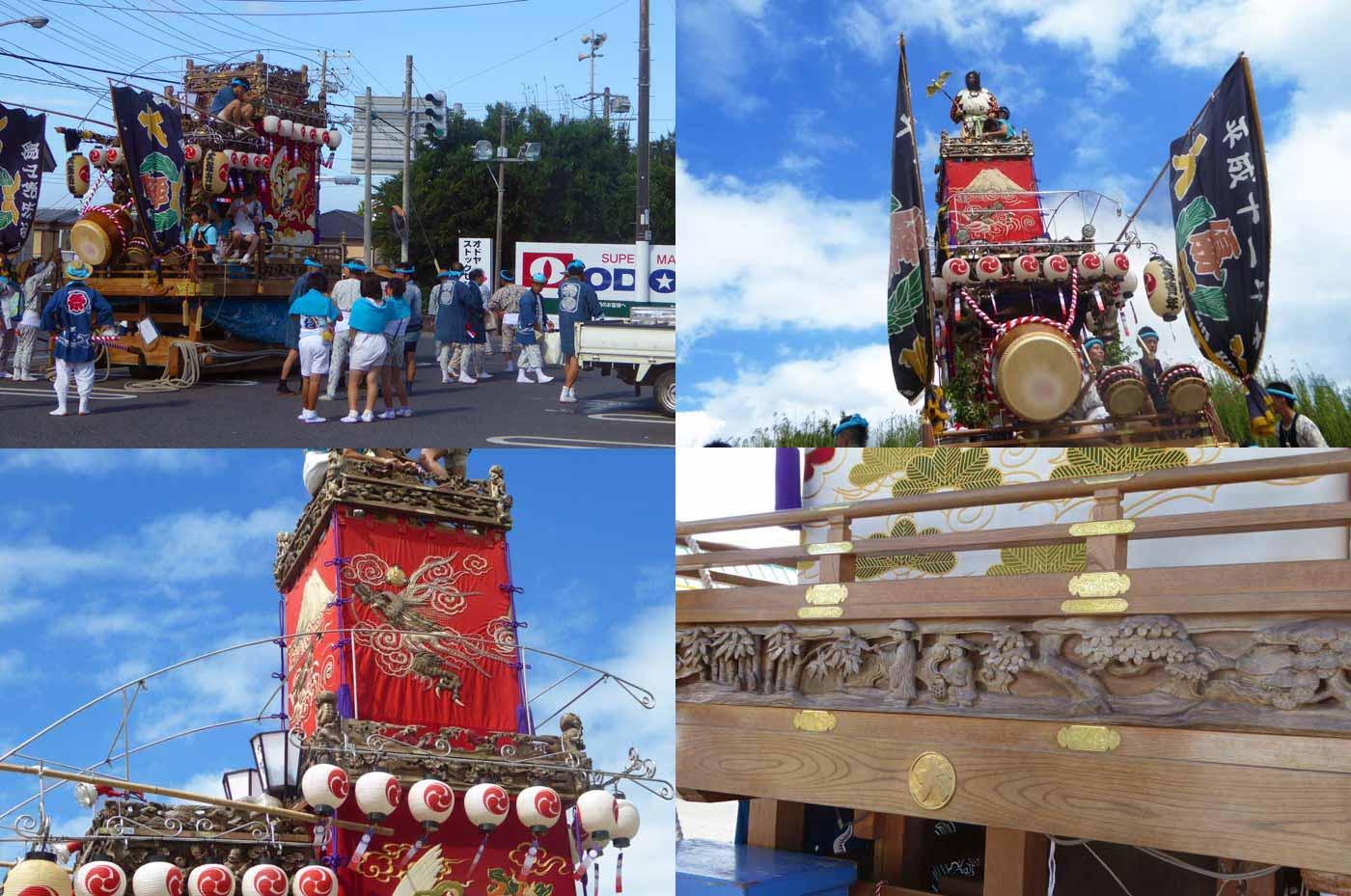 船形諏訪神社例祭 大塚区の山車